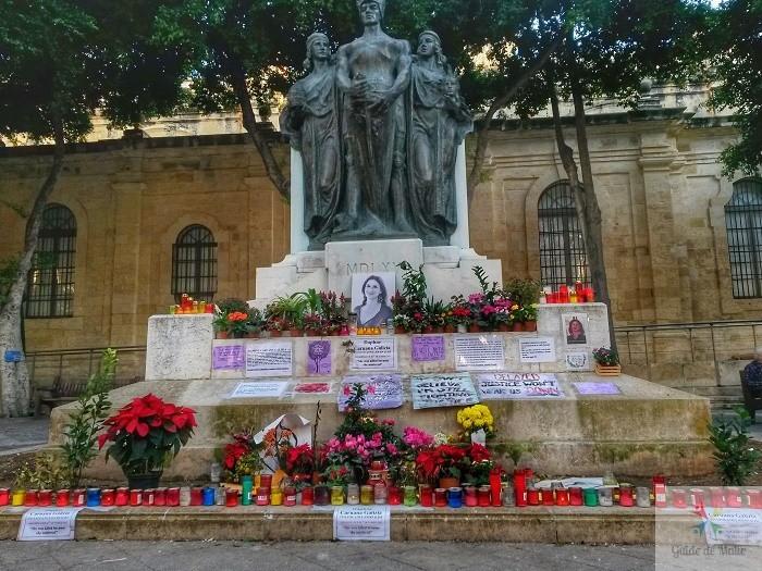 Daphné-Caruana-Galizia malte monument journaliste morte asssasinée proces