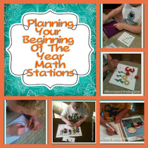 math stations beginning of the year