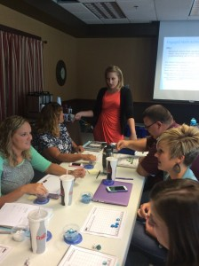 Ashley Perry talks about Engaged Math Activities during a Guided Math with Angela Bauer workshop