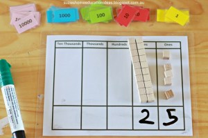 guided math first grade place value hands on activity picture 1