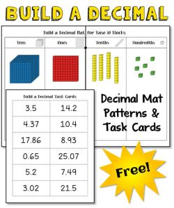 Guided Math Fifth Grade Place Value Activities like Decimal Place Value Mat