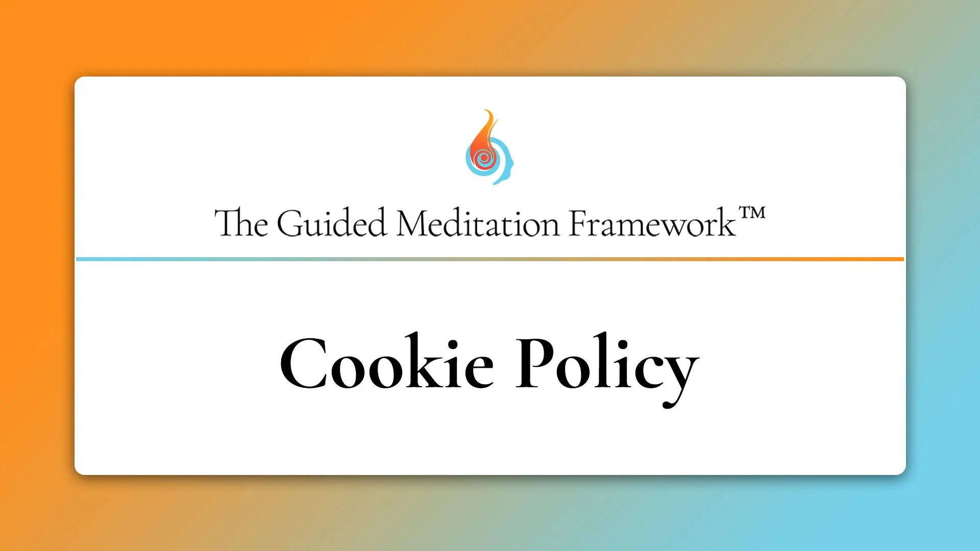 The Guided Meditation Framework cookie policy