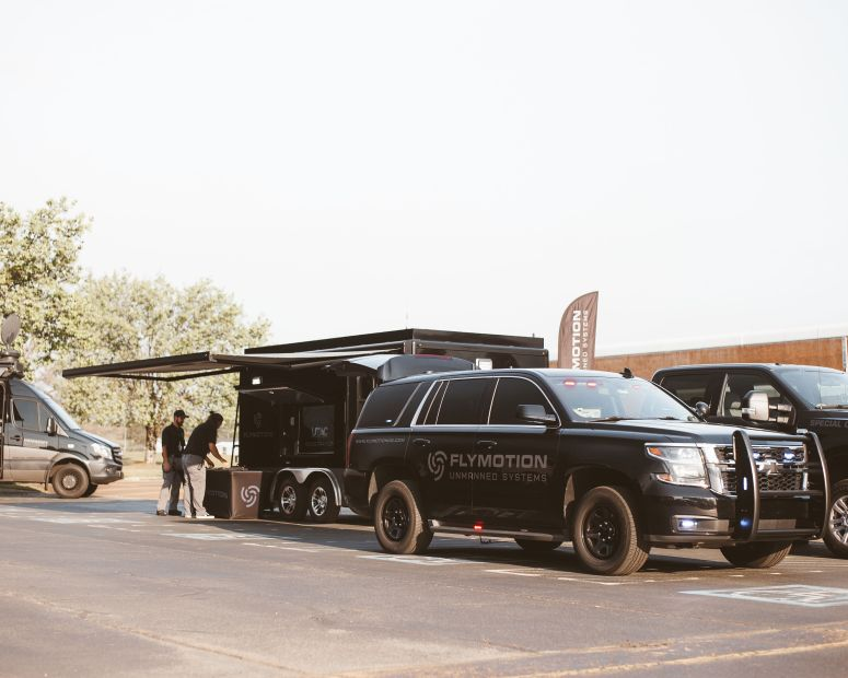 FLYMOTION drone technology command vehicles and command trailer