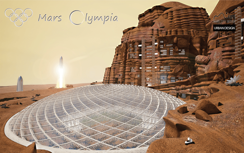 Mars Olympia by Truyman Father and Son_ First Place Winner Mars City Design 2019