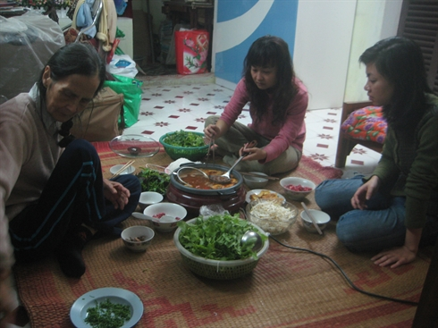 repas traditionnels des Vietnamiens