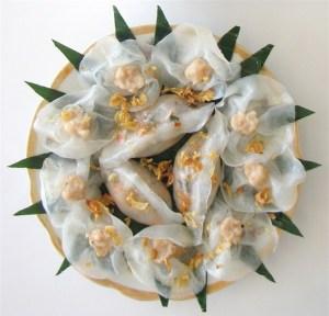 Banh bao et banh vac (Roses blanche) Hoi An