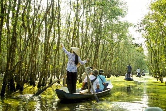 Gao Giong en barque