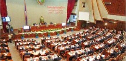 Réunion de l'Assemblée nationale du Laos