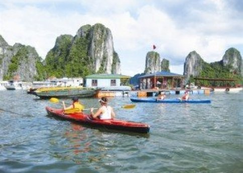 Le village de pêche de Ba Hang.
