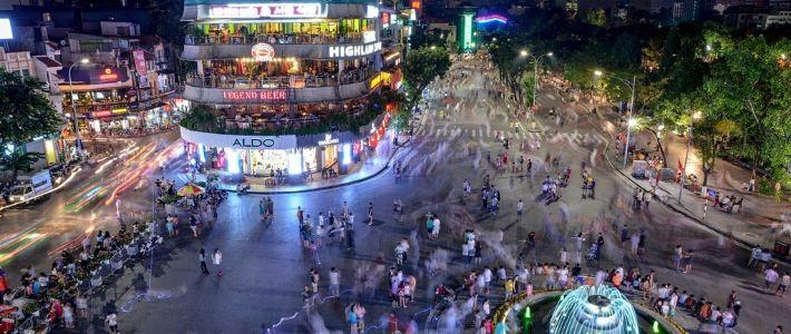 balade en vieux quartier - Vie nocturne à Hanoi
