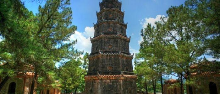 pagode de la dame céleste  - la ville Hue