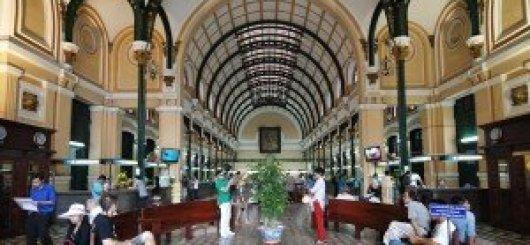 Hall de la poste centrale, Ho-Chi-Minh -ville