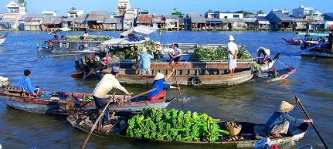 marché flottant Cai Rang à Cân Tho