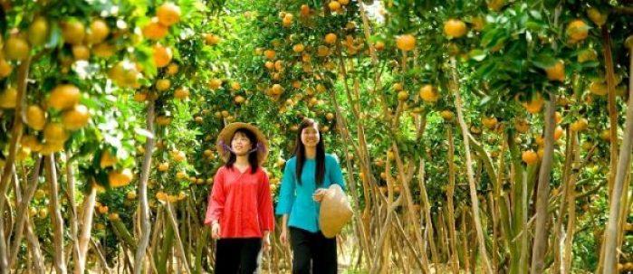 Village Cai Mon au delta Mekong