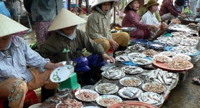 Marché aux poissons de Giao Hai à Nam Dinh