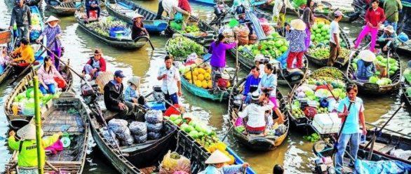 Visite marché flottant Cai Rang