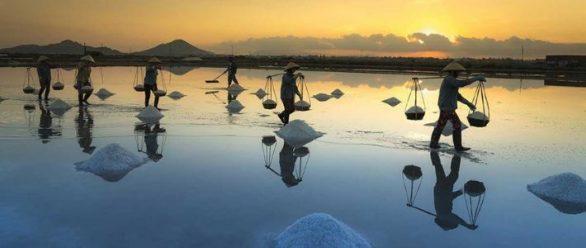 Champ de sel à Khanh Hoa