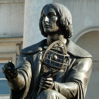 Copernicus' statue decorates the Royal Route in Warsaw.