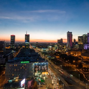 Warsaw is a big urban agglomeration with almost 2 million inhabitants.