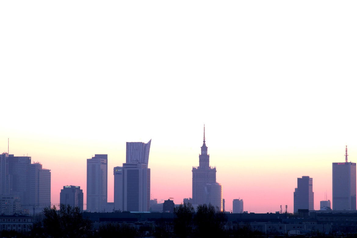 Warsaw city centre – unique in Poland and in Europe.