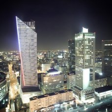 Warsaw by night view.