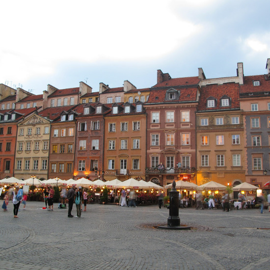 On the Old Market Square you will find a lot of restaurants in the open air.