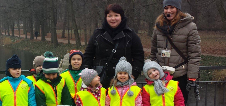 Ja z dziećmi podczas jednej z wycieczek.