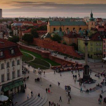 Widok na Stare Miasto z wieży kościoła św. Anny jest urzekający.