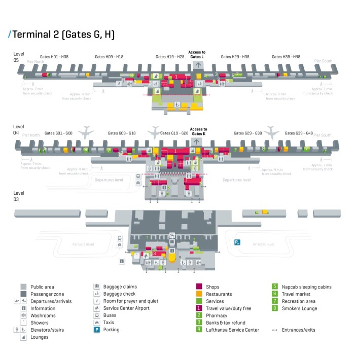 map of munich airport terminal 2 Munich Airport Map Munich map of munich airport terminal 2