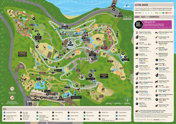 Old Australia Zoo Map.Taronga Zoo Sydney Map Taronga Zoo Sydney Map