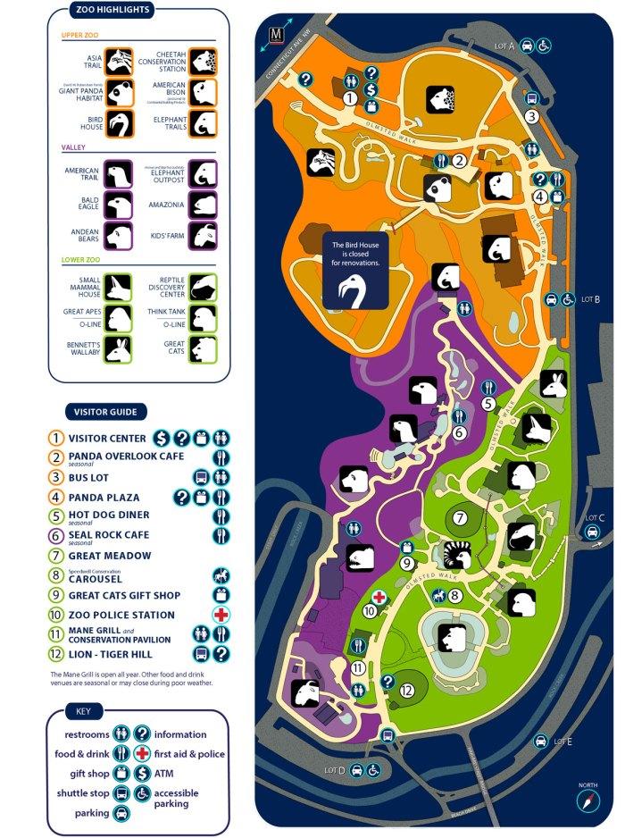 Smithsonian S National Zoo Map