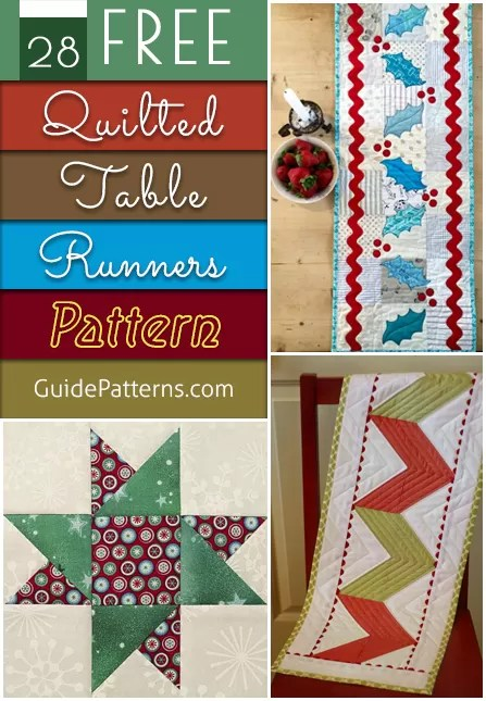 Quilted Christmas Table Runner Patterns Free Easy : quilted, christmas, table, runner, patterns, Quilted, Table, Runners, Pattern, Guide, Patterns