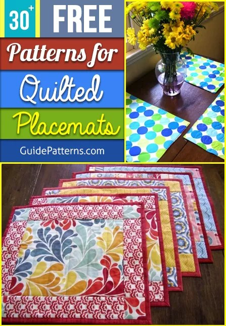 Quilted Christmas Placemat Patterns : quilted, christmas, placemat, patterns, Patterns, Quilted, Placemats, Guide