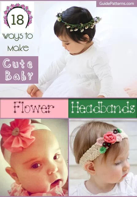 How To Make Flowers Out Of Ribbon For Baby Headbands : flowers, ribbon, headbands, Flower, Headbands, Guide, Patterns