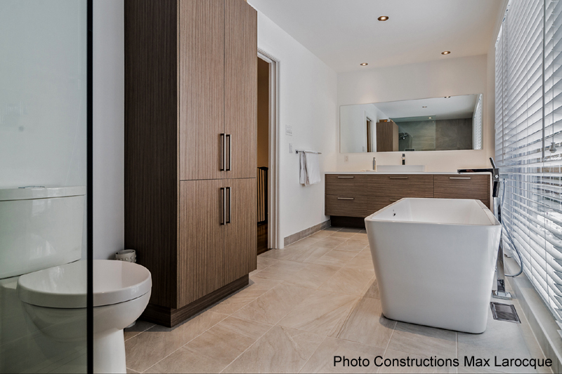 salles de bains contemporaines de verre