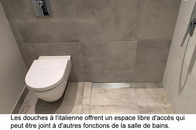 douche a l italienne pour salle de bain