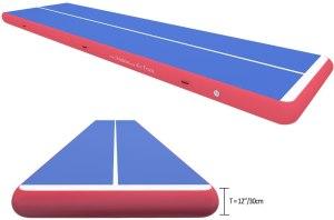 ibigbean Inflatable Gymnastics Tumbling Air Tracker Equipment Mats - for Cheerleading, Gymnastics Training, Beach, on Water(8'' & 12'' Thick)