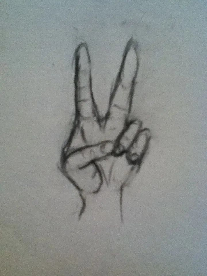 How To Draw A Peace Sign : peace, Hands-, Peace, Guides