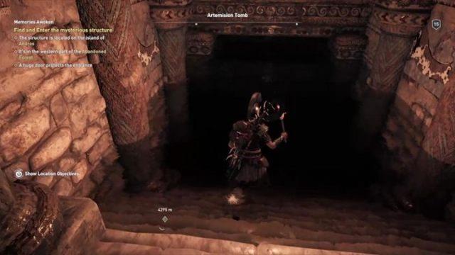 Вернитесь в комнату с разрывом и прыгайте вниз - Eubea - Гробницы в Assassins Creed Odyssey Game - Гробницы - Assassins Creed Odyssey Game Guide