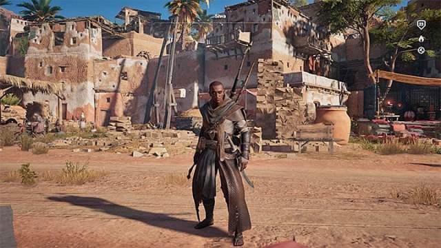 Shaved Bayek (su apariencia predeterminada después de completar el prólogo) - ¿Cómo hacer crecer el cabello de Bayeks?  - Preguntas frecuentes - Guía del juego Assassins Creed Origins