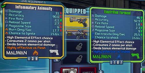 Image result for borderlands 2 gun stats