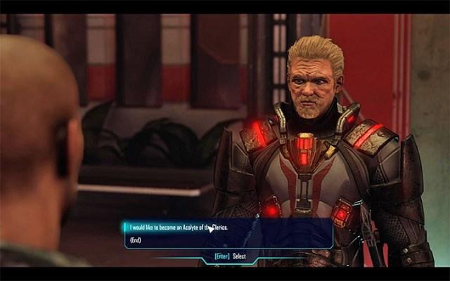 Reinhold tomará la decisión de si eres digno de unirte a su facción.  - Clérigos - Facciones - Elex Game Guide