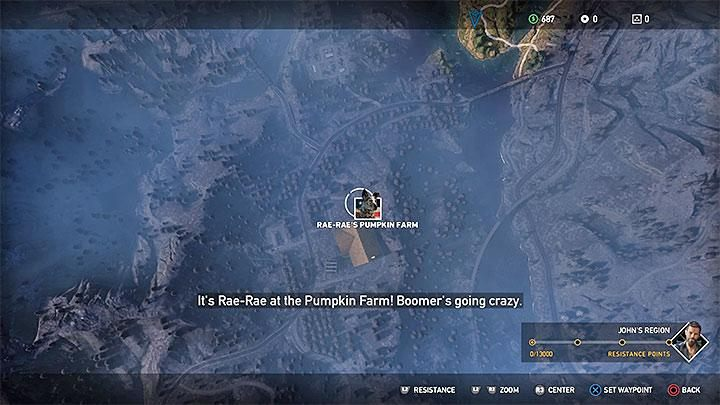 To recruit Boomer, reach Rae-Raes pumpkin farm in Holland Valley - Specialists in Far Cry 5 (Companions) - Guidebook - Far Cry 5 Game Guide
