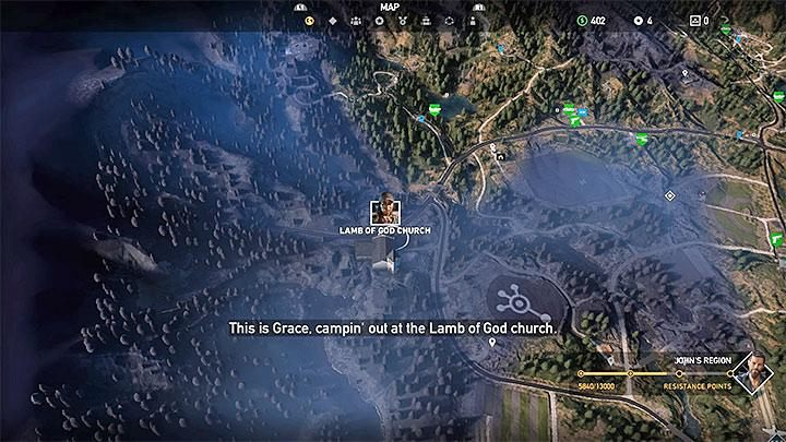 To recruit Grace, reach the Lamb of God church in Holland Valley - Specialists in Far Cry 5 (Companions) - Guidebook - Far Cry 5 Game Guide