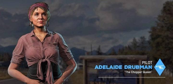 Adelaide Drubman is the ninth specialist available in the game - Specialists in Far Cry 5 (Companions) - Guidebook - Far Cry 5 Game Guide