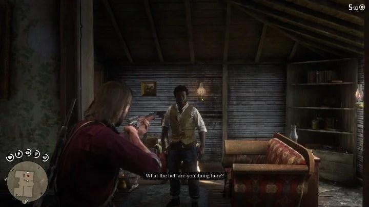 Первое, что вам нужно сделать в то время как на Усадьбе, - убить человека, угрожающего вам - Усадьбы - Карты сокровищ в Red Dead Redemption 2 - Карта сокровищ - Red Dead Redemption 2 Guide