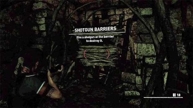 From now on, you can use your shotgun to destroy some barricades - you have to shoot single shots in their direction - How to get a shotgun in Shadow of the Tomb Raider Game? - FAQ - Shadow of the Tomb Raider Game Guide