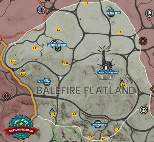 Mad Max Locations Minefield Map - Year of Clean Water