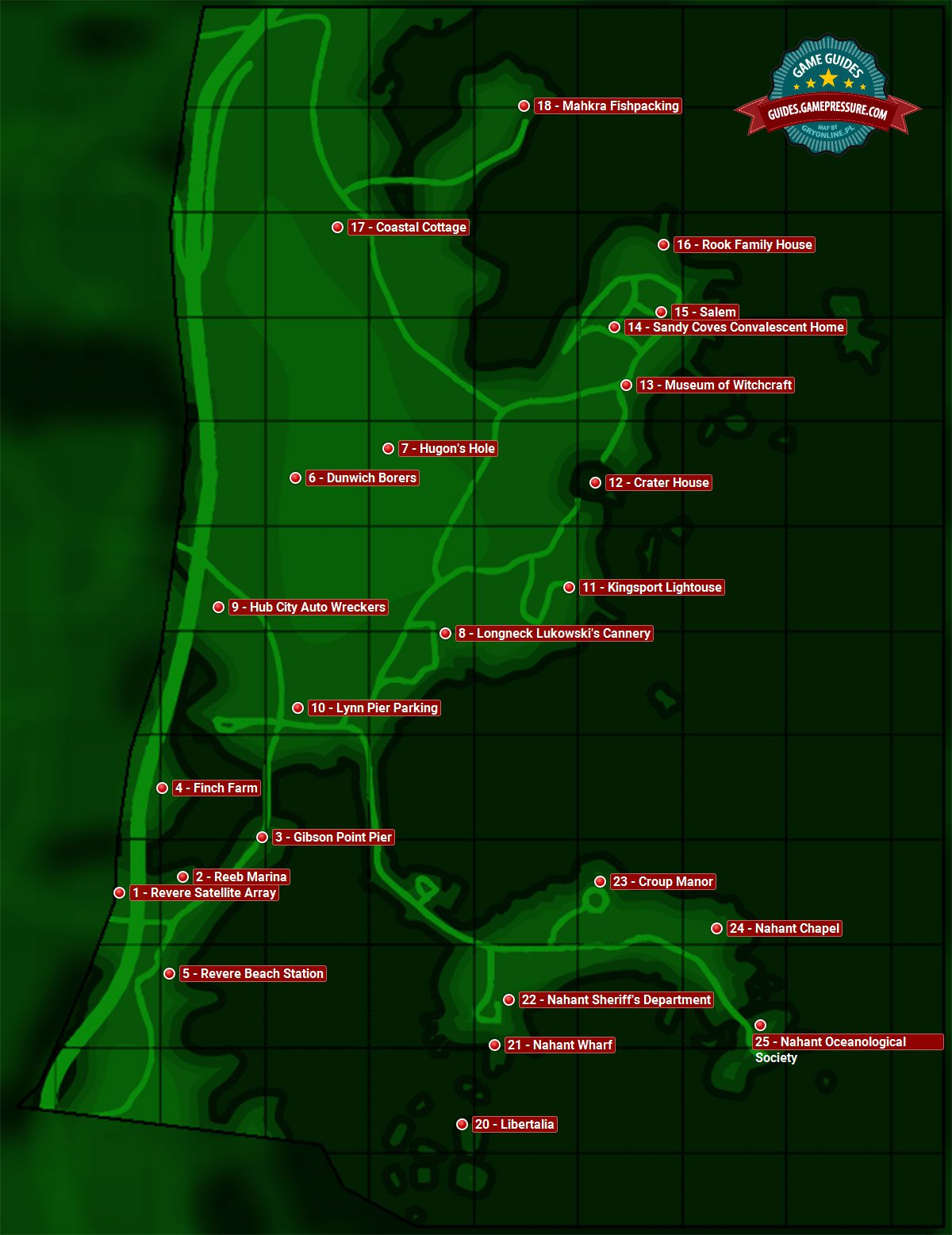 Fallout 4 Enemy Level Map : fallout, enemy, level, Salem, Sector, Fallout, Guide, Walkthrough, Gamepressure.com