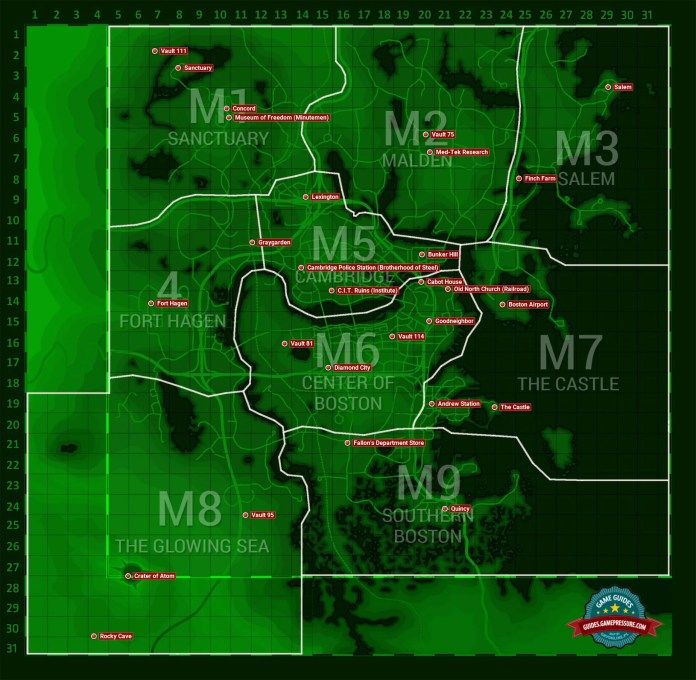 World Map Fallout 4 Game Guide Walkthrough Gamepressure Com